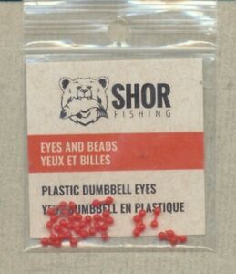 Plastic Dumbbell Eyes - red - small - bag 20 NYE2R