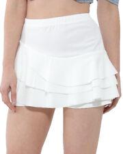 Mujer Triple Volante Capas Faldas Pantalón Pantalones Cortos Falda Multi