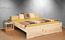 Model Sonnengruß 180 x 200 cm Bett Zirbenholzbett Zirbenbett metallfrei