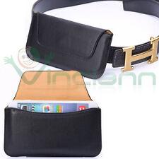 Custodia CINTURA ultra-slim sacchetto Nero per Samsung Galaxy Alpha G850F C4C7