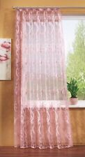 Gardine  Vorhang Höhe 125cm  breite 600cm  Store  transprent- Rosa