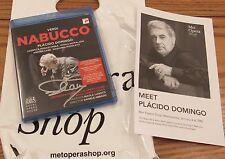SIGNED BY PLACIDO DOMINGO Nabucco Royal Opera House Blu-ray Disc, 2015