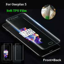 Front Rear EDGE TO EDGE Full Cover TPU Screen Protective Film For OnePlus 5 Lot