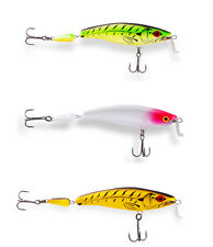 Ugly Duckling fishing Lures, 3 amazing balsa wood Shallow Runner rare crankbaits
