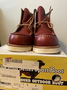 """**FACTORY SECONDS** Red Wing Irish Setter 6"""" Moc Toe #8875 Oro Russet -Size 9.0E"""