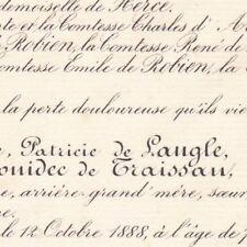 Celeste Marie De Langle Le Gonidec De Traissan Bel-Air Laval 1888