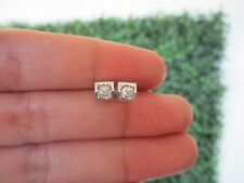 .034 Carat Diamond White Gold Earrings 18k sepvergara