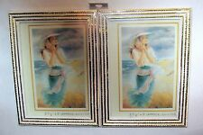 """A SET OF 2 PICTURE FRAMES 3 1/2"""" X 5"""" COLO IVORY W/GOLD RESIN FRAME TRADITIONAL"""