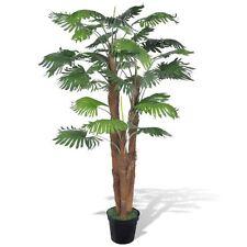 """71"""" Artificial Plant Fan Palm Fake Tree Potted Patio Arrangement Home Deck Decor"""