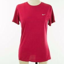 Nike Women Fit Dry Top Medium Raspberry Red Run Work Out Training Crewneck
