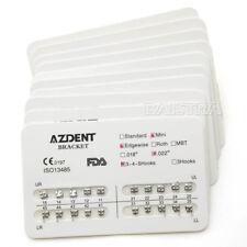 10 Sets Dental Orthodontic Mini Edgewise Slot.022 Hooks 3-4-5 Braces Brackets