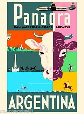 Argentina Panagra South America American Vintage Travel Advertisement Poster