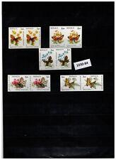 (1030-84)  2x  MONACO 1984 - MNH - IMPERF - FLOWERS - BUTTERFLIES
