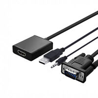 VGA to HDMI Converter Adapter w/ Audio 1080P HD Video
