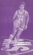 1986-87 TEXAS CHRISTIAN UNIVERSITY TCU LADY FROG WOMEN'S BASKETBALL SCHEDULE