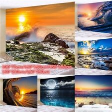 Hippie Ocean Wave Tapestry Landscape Tapestries Art Wall Hanging Room Blankets