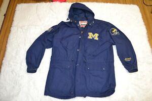 Nutmeg Campri University of Michigan Wolverines Hooded Drawstring Waist Jacket L