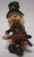 IRELAND WEE FOLK LEPRECHAUN PLAYING FIDDLE MUSIC SITTING DOWN