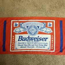 Budweiser Bottle Label Beach Towel Vintage Anheuser Busch Beer