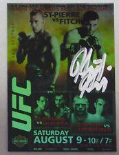 Heath Herring Signed Ufc 2009 Topps Ufc 87 Poster Card Autograph vs Brock Lesnar