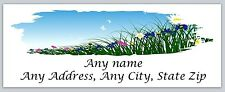 30 Personalized Return Address Labels Spring Flowers Buy 3 Get 1 free(c 603)