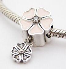 POETRY SPRING BLOOM DANGLE CHARM Bead Sterling Silver.925 f European Bracelet648
