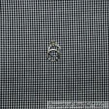 BonEful Fabric Fq Cotton Quilt Black White B&W Calico Woven Gingham Check Block