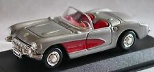 1957 CORVETTE GRAY METALLIC 1:43 NEW-RAY DISPLAY BASE & CASE WINDOW BOX MINT NOS