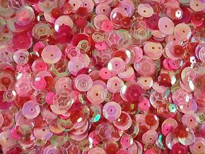 Sequins Cup Pink Mix Asst Sizes 20g Mixed Cupped Dancing Costumes FREE POSTAGE
