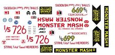 Bill Jenkins Monster Mash II Chevy '55 1/24th - 1/25th Scale Waterslide Decals