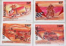 SENEGAL 1998 1523-26 U 1269-72 IMPERF Dakar-Dakar Rally Car Truck Motorbike MNH