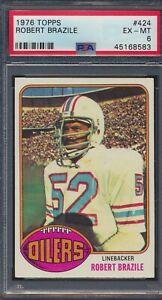 1976 TOPPS #424 Robert Brazile Houston Oilers PSA 6 Ex-Mt