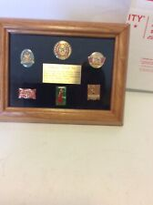 Anheuser-Busch commemorative logos of the past Framed pin set Limited Edition