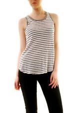 Sundry Mujer Esenciales Camiseta sin mangas sin mangas rayas blanco US1 RRP £ 83 BCF612