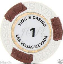 6 pc 6 colors 13.6 gram Matte King's Casino poker chip samples set #243