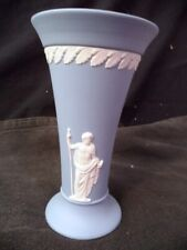 "Wedgwood Blue Jasperware Openmouthed Vase 6"" Tall"