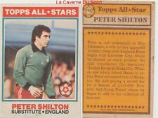 145 PETER SHILTON # ENGLAND ALL STARS CARD PREMIER LEAGUE TOPPS 1978