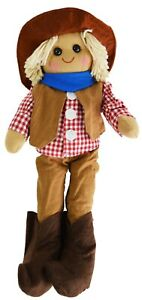 Cowboy Rag Doll by Powell Craft, Hat, Neck Scarf, Waistcoat, Boots Large 40cm
