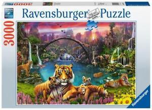 3000 Teile Ravensburger Puzzle Tiger in paradiesischer Lagune 16719
