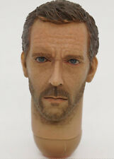 "dr. gregory house md 1:6 scale head sculpt for 12"" inch actionfigur hugh laurie"