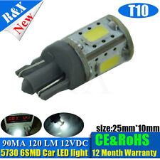 1x T10 194 168 501 921 W5W 6 LED 5730 SMD LED Car Light Bulb White 12VDC PERFECT