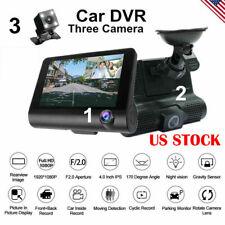 Car 1080P DVR Dual Lens Dash Cam Front and Rear Video Recorder Camera G-sensor