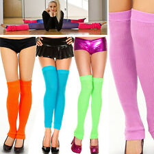 Thick Soft Knit Leg Warmer Thigh High Footless Socks Halloween Costume 9 Colors