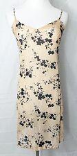 William B Nightgown Fitted Bodice Nightie Slip Semi Sheer Nude Black size 4 USA