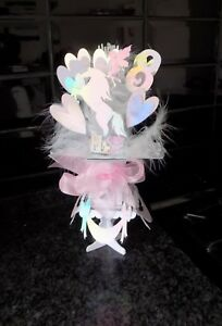 PERSONALISED UNICORN BIRTHDAY CARD POP-UP & stand, Granddaughter, Daughter etc