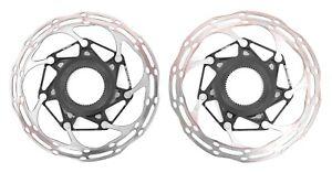 SRAM CenterLineX Rounded Centerlock Disc Brake Rotors 140mm CLX CX Bike 1 PAIR