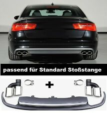 Für Audi A6 4G S6 Diffusor Tuning Heckdiffusor S6 S-Line Look Spoiler #g