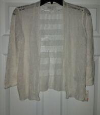 $59 NWT Alfani Womens White Open Knit Cardigan Sweater Top Size S Small
