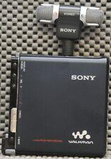 Sony MZ-M200 HI-MD minidisc recorder bundle w/ Sony Stereo mic ECM-DS70P