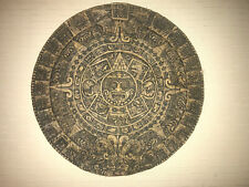 Aztec Mayan Gods Calendar Sunstone Plaque Wall Decor Mexico Art 11""